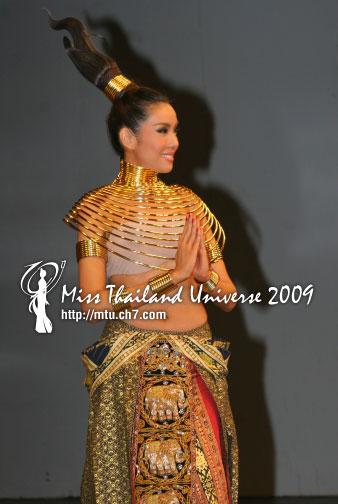 ชุดประจำชาติไทย miss universe2009 ไข่มุก ชุติมา